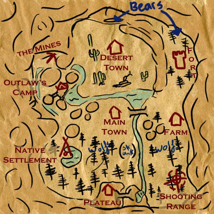 wojownicy na dzikim zachodzie mapa przygodowa adventure 2