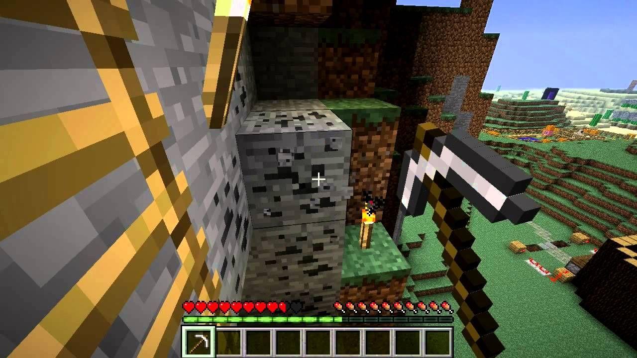 mechanika gry minecraft kopanie rudy