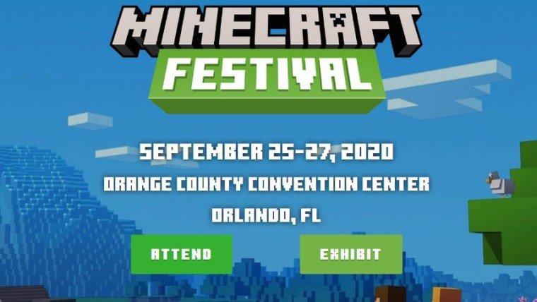 Minecraft Festival minecon 25 27 09 2020
