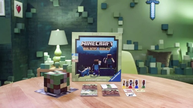 minecraft board game builders end biomes gra karciana