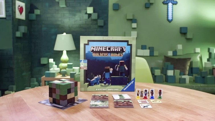 minecraft board game builders end biomes gra karciana