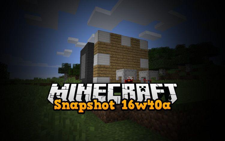 snapshot 16w40a minecraft