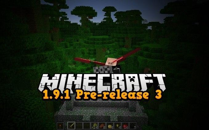 1.9.1 prerelease 3 minecraft