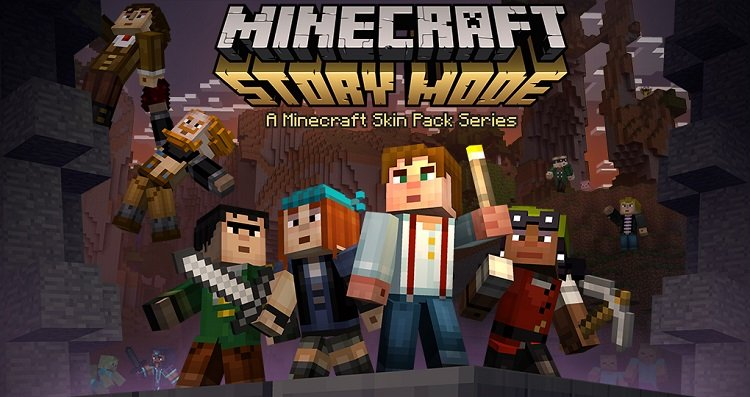 Minecraft Story Mode paczka skinow