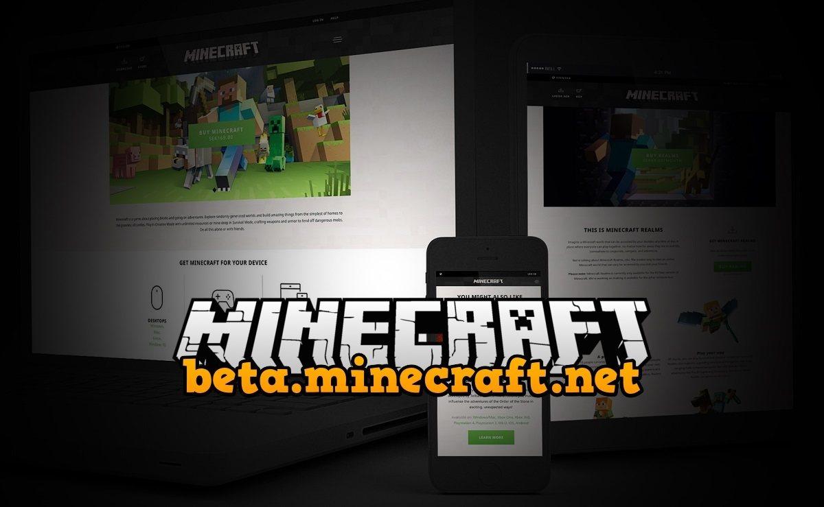 Minecraft.net site new layout