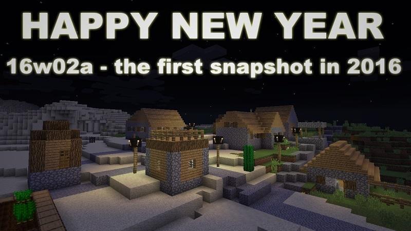 snapshot 16w02a pierwszy w 2016
