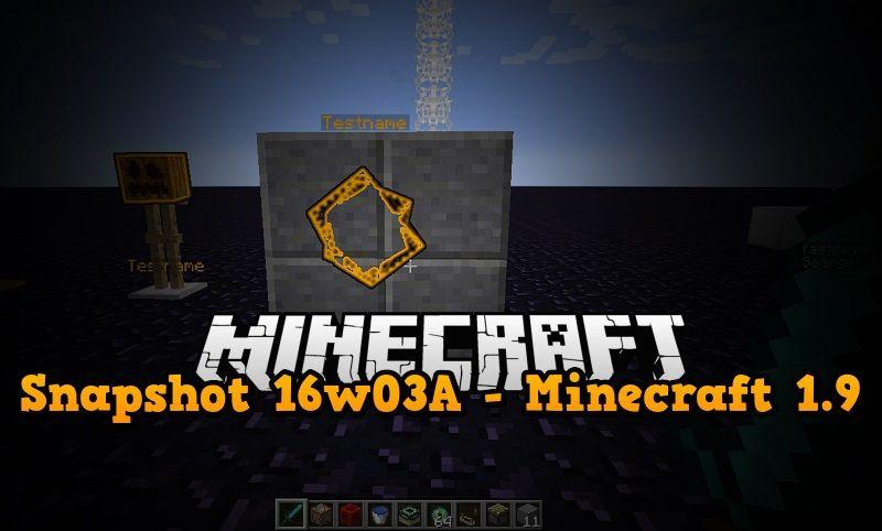 snapshot 16w03a minecraft