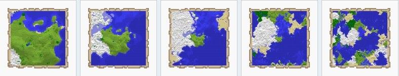 rozne poziomy zoom w mapach minecraft 1.9