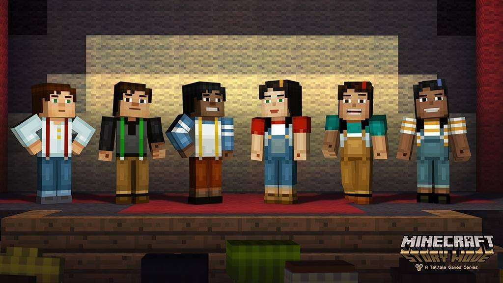 story mode minecraft postacie