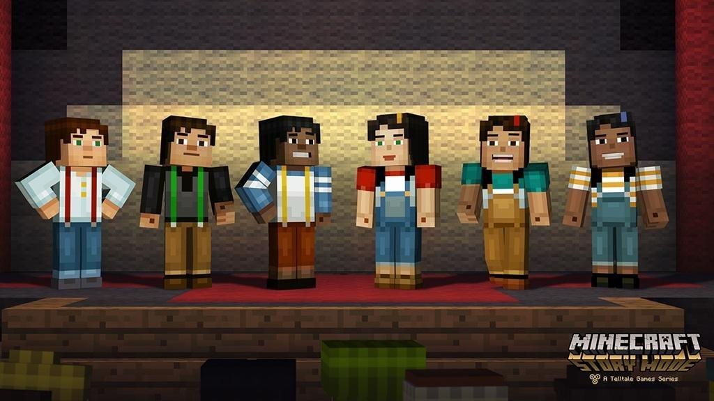 story mode minecraft postacie