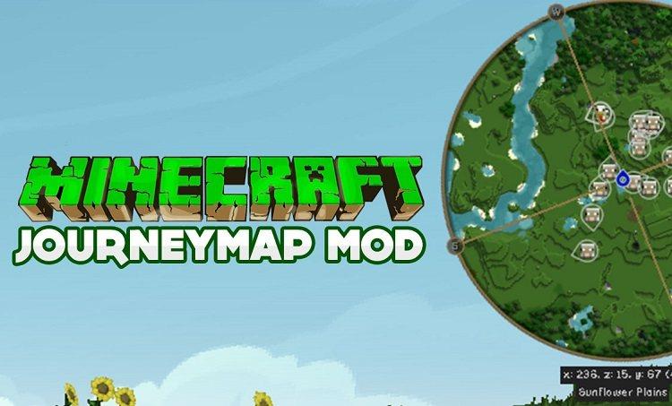 JourneyMap mod minecraft dynamiczny podglad mapy