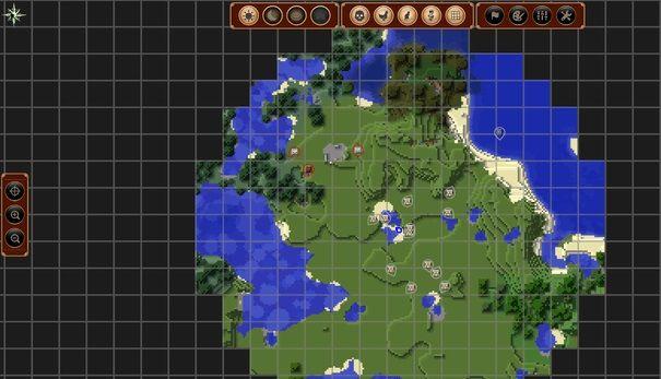 JourneyMap podglad mapy w grze widok pelny