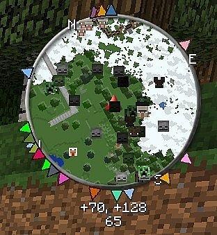 VoxelMap Mod radar mobow minecraft