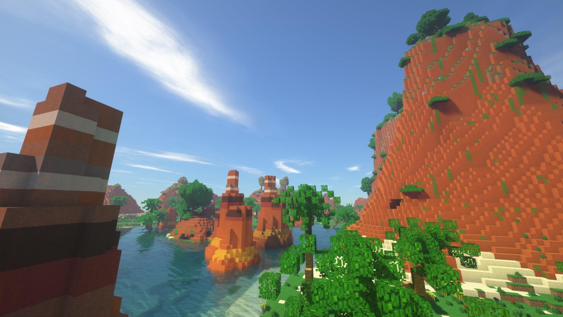 biome bundle Czerwone klify z woda