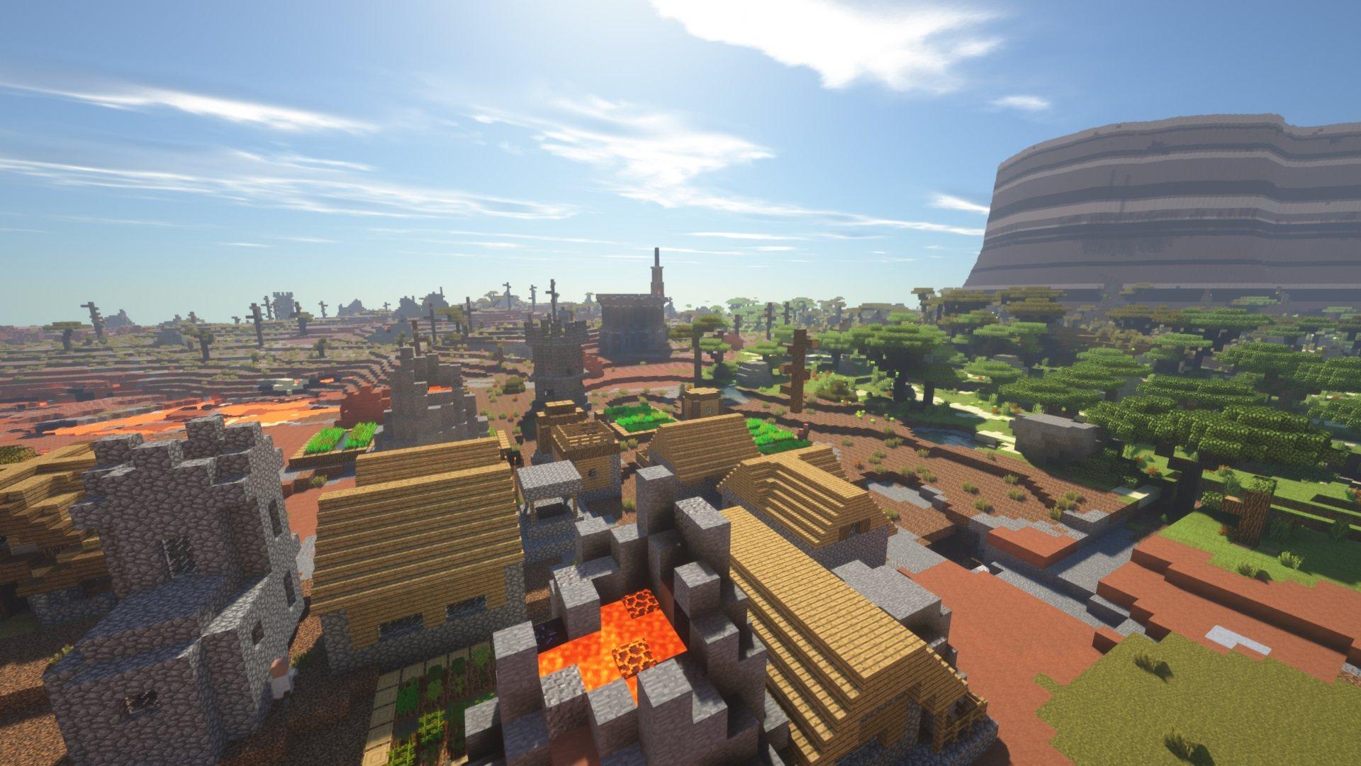biome bundle Wulkaniczna wioska z plaskowyzem