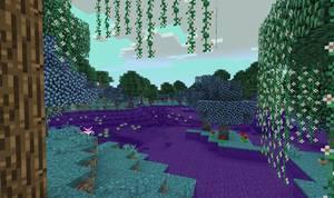 biomes o plenty mod biom gaj purpurowy