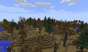 biomes o plenty mod biom martwy las