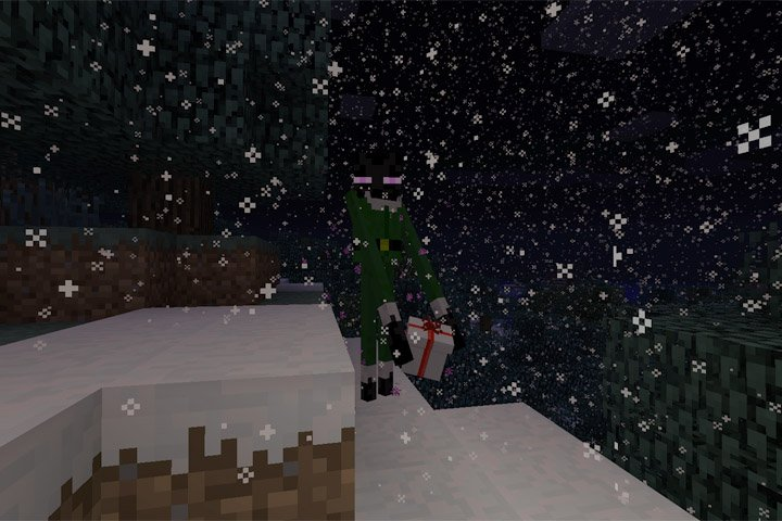 enderman with gift