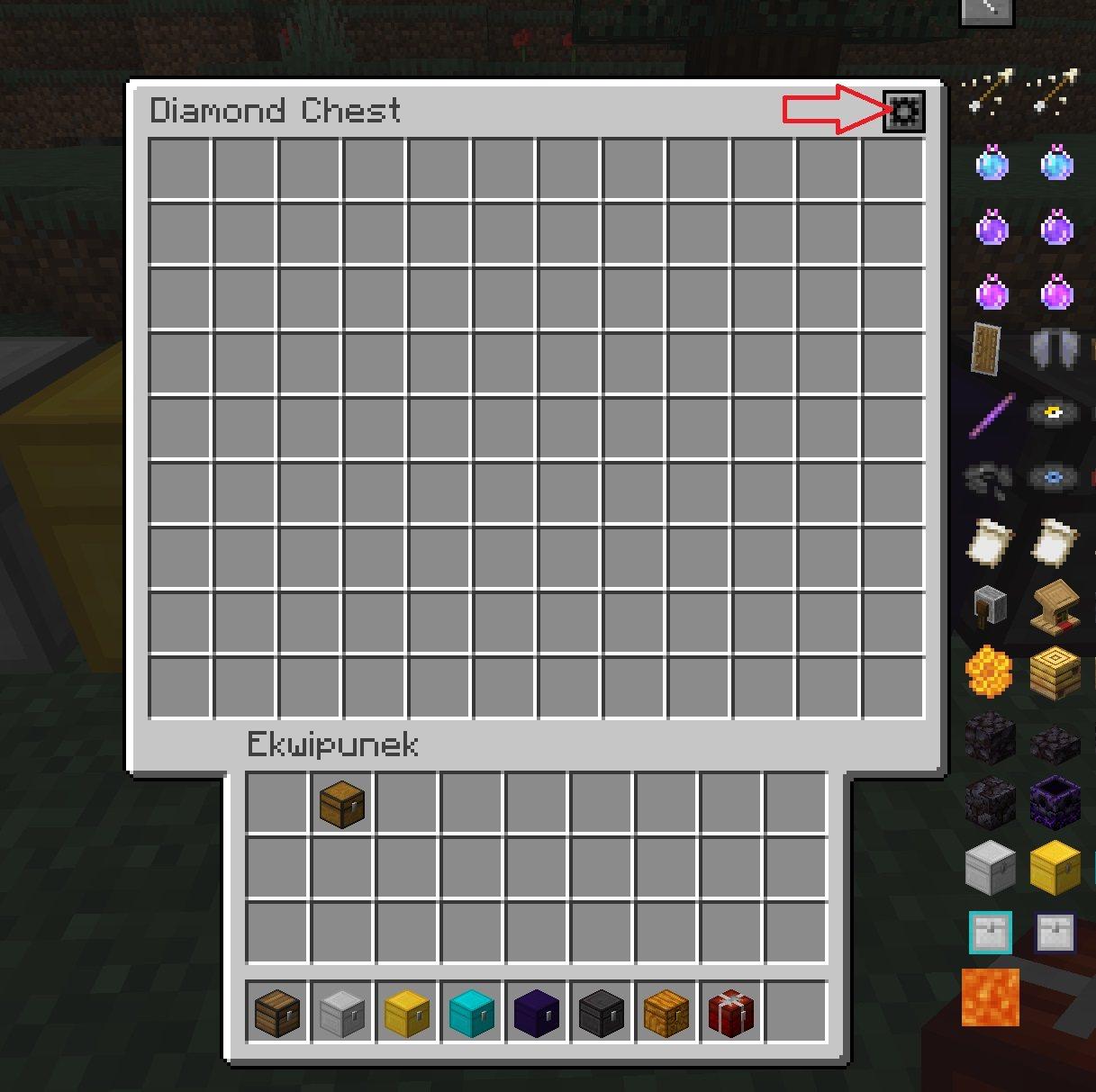 expanded storage zmiana okna GUI skrzyni 3 rodzaje