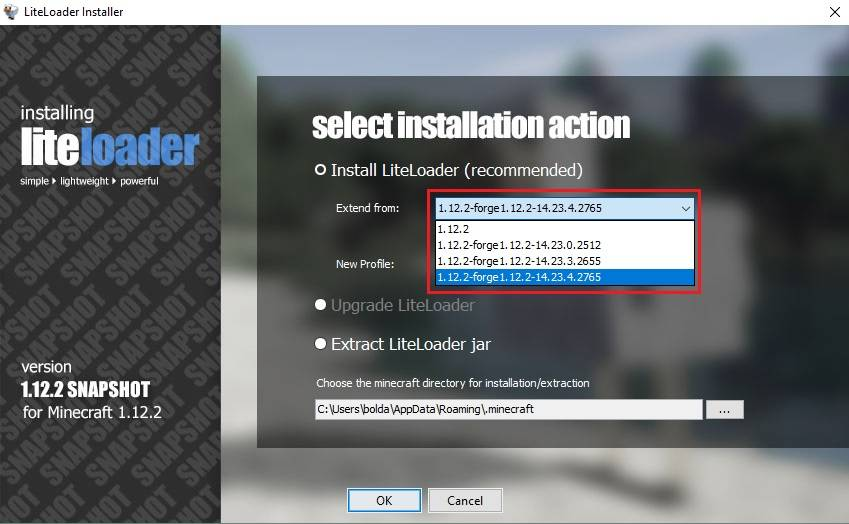 liteloader instalacja z forge