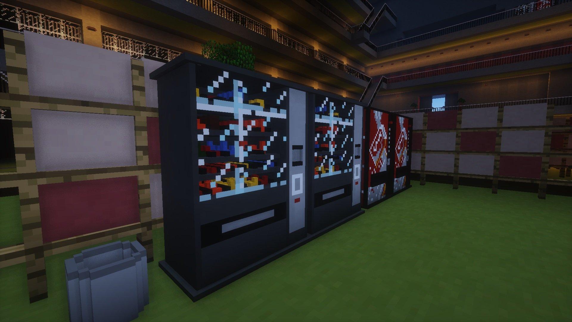 Automat z napojami zbudowany z mikro bloków