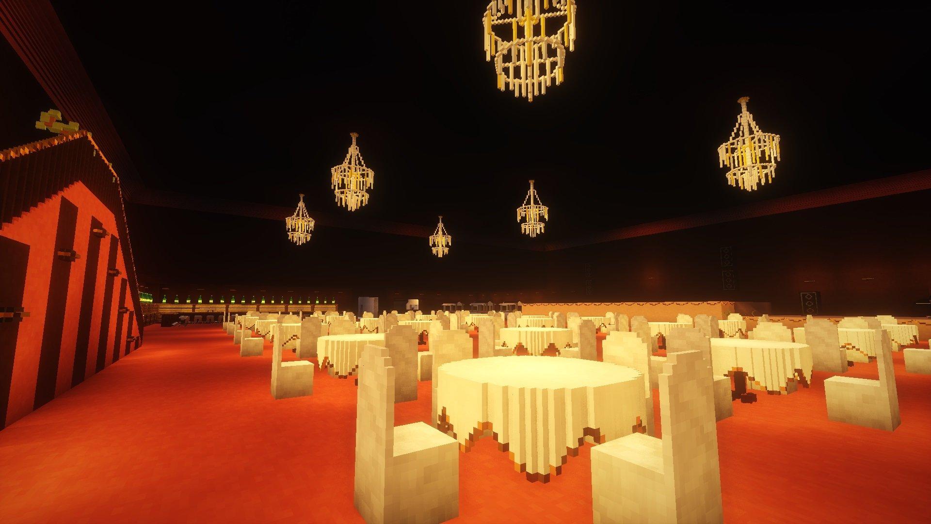 Sala balowa zbudowana z mikro bloków