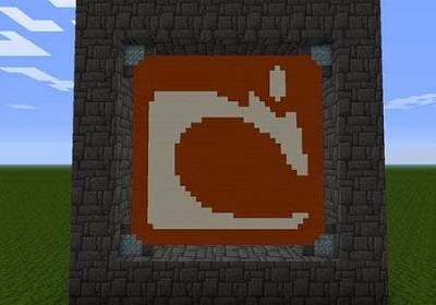 Logo mojang z mikro bloków