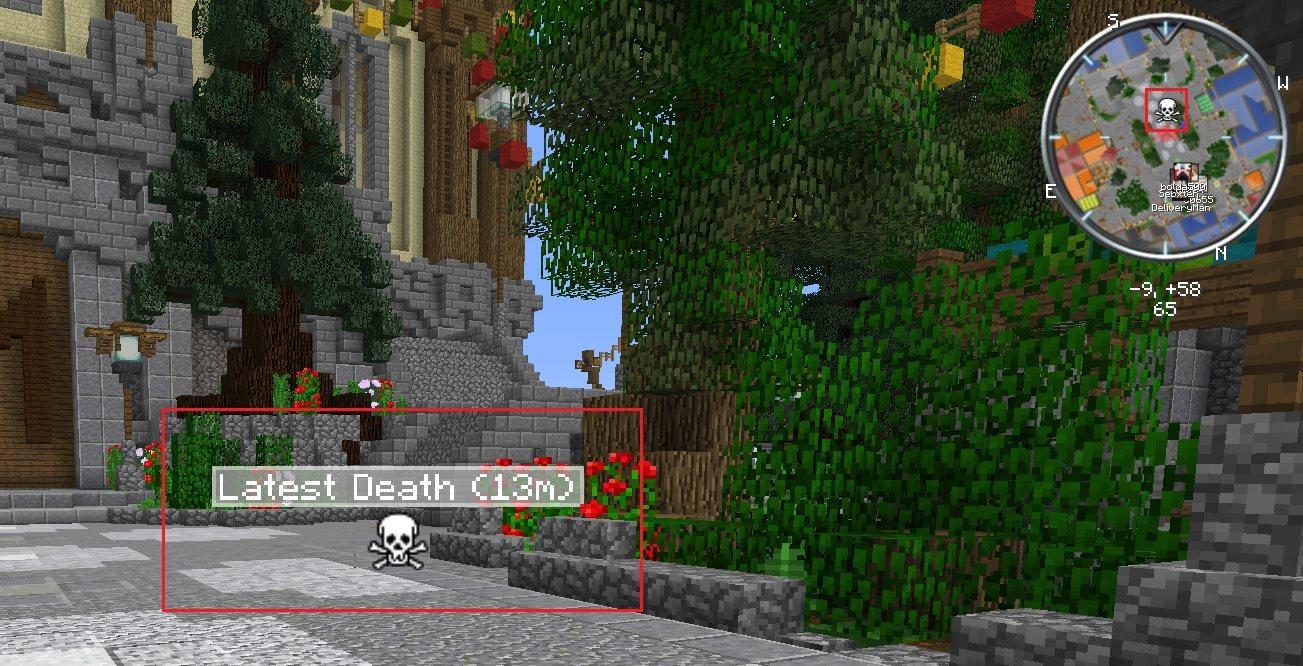 voxelmap mod 1.13.2 miejsce smierci zaznaczone na mapie