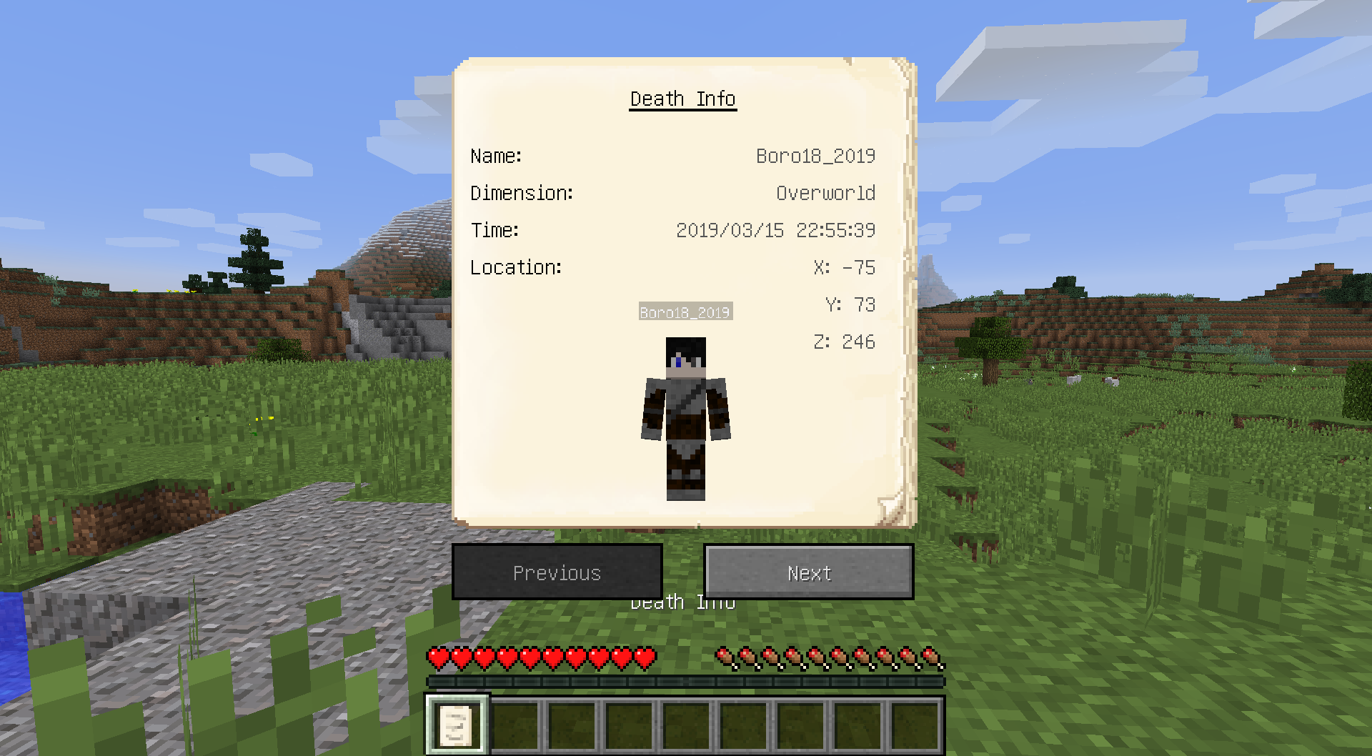 gravestone mod 1.13.2 statystyki postaci
