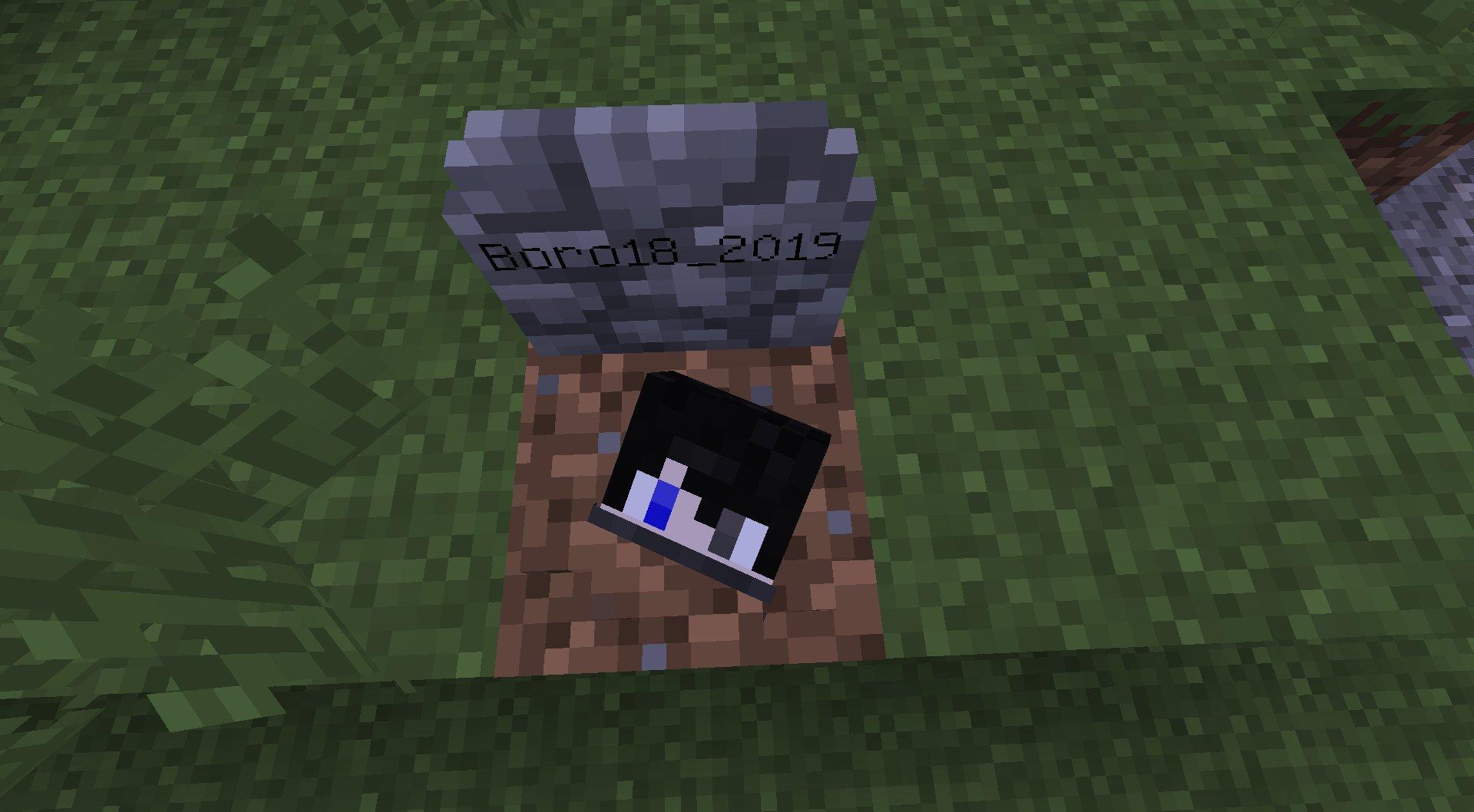 gravestone mod minecraft 1.13.2 nagrobek gracza