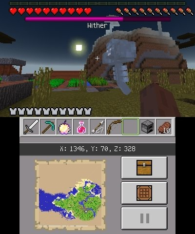 wither 2 edycja nintendo 3ds minecraft