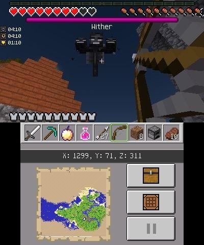 wither edycja nintendo 3ds minecraft