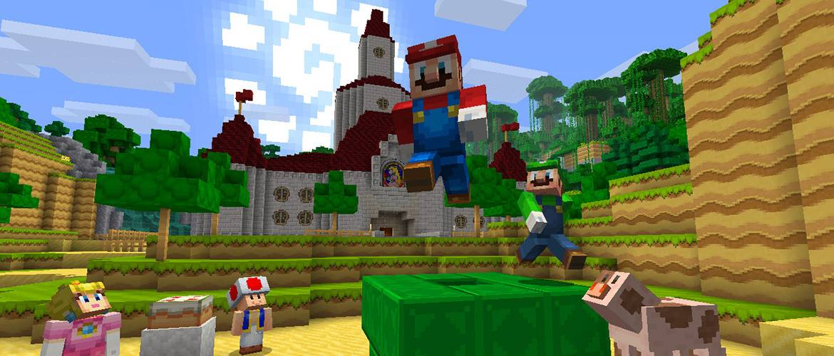 nintendo switch edition minecraft mario luigi princes