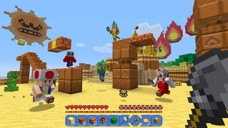 nintendo switch edition minecraft mario mapa 1