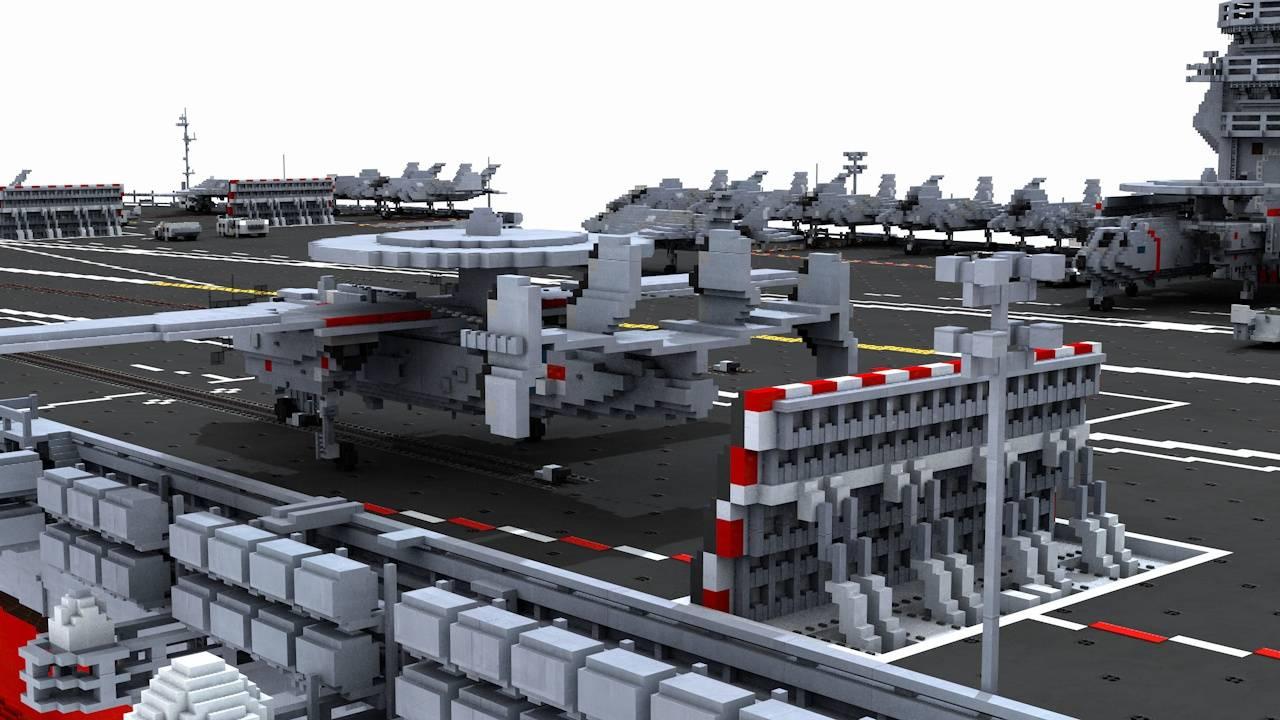 nowoczesny lotniskowiec minecraft model 10