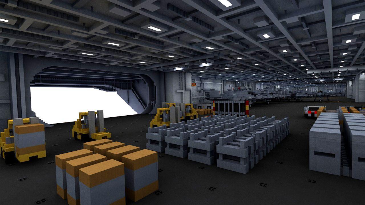 nowoczesny lotniskowiec minecraft model 11