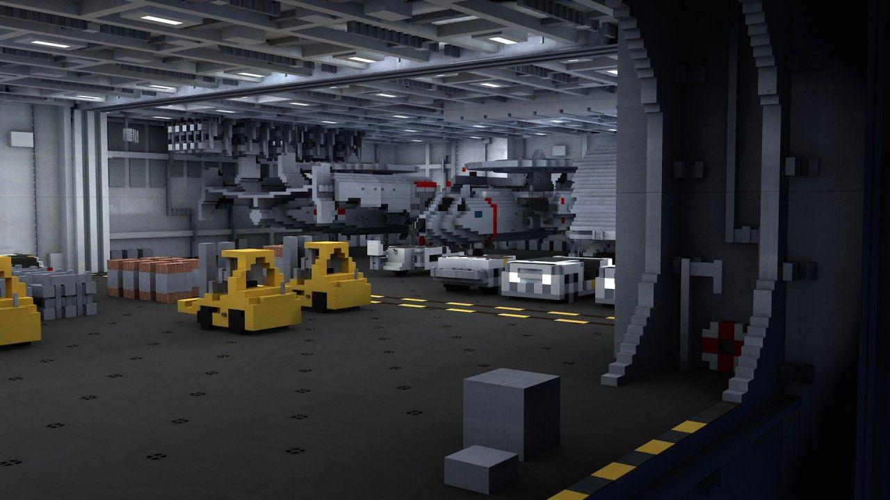 nowoczesny lotniskowiec minecraft model 12