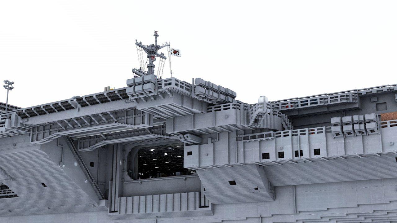 nowoczesny lotniskowiec minecraft model 16