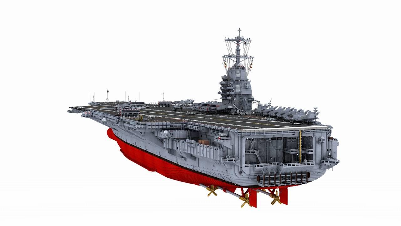 nowoczesny lotniskowiec minecraft model 5