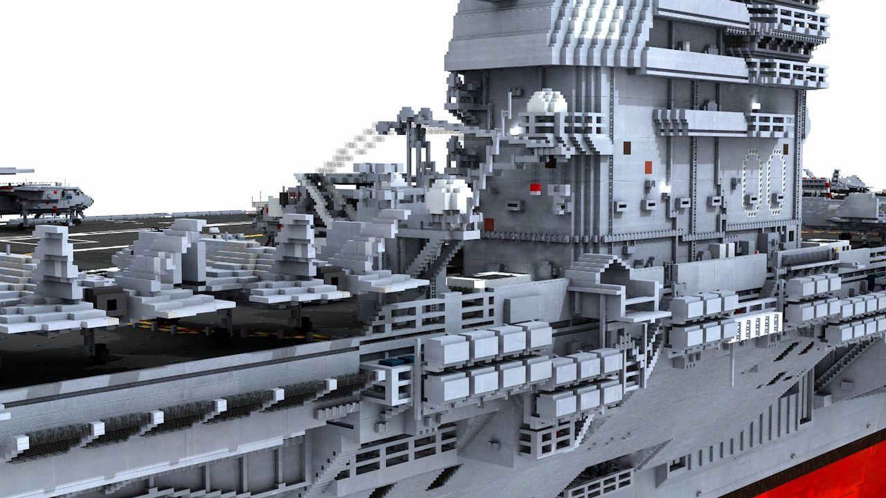 nowoczesny lotniskowiec minecraft model 9