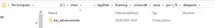 instalacja paczki danych blaze and caves datapacks