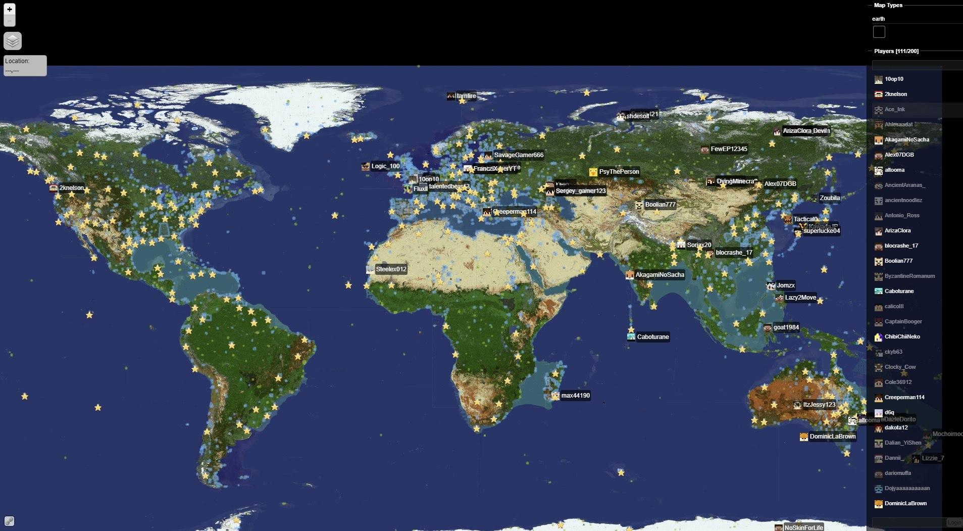 dynmap mapa podgladu terenu minecraft na stronie internetowej