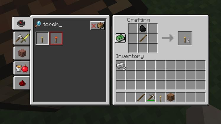 pochodnia minecraft tworzenie