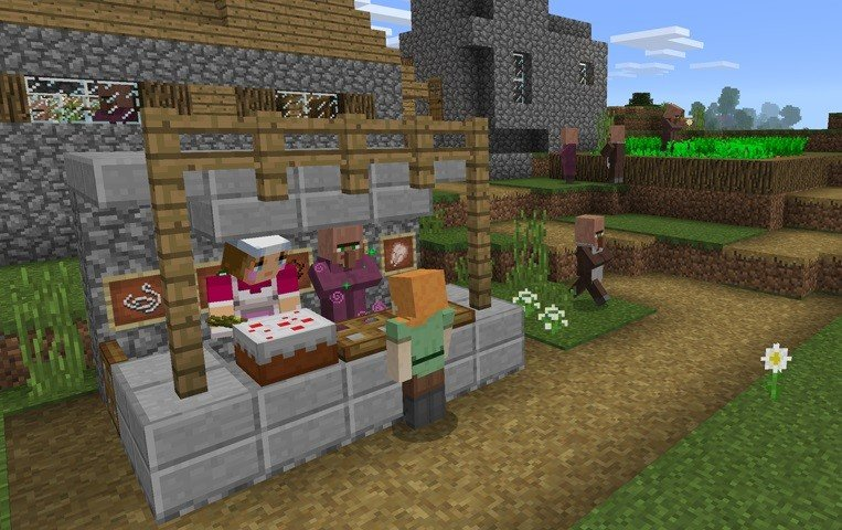 dodano villagery wisniaki mcpe minecraft