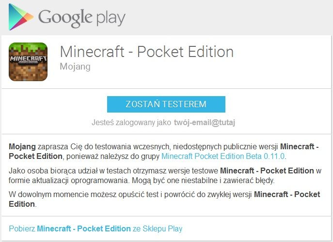 mcpe 0.11.0 beta testy minecraft pocket edition