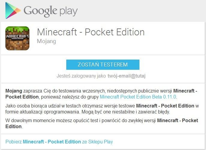 mcpe 0.11.0 beta testy minecraft pocket edition