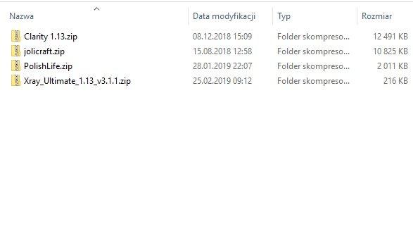 instalacja paczki tekstur minecraft folder resourcepack