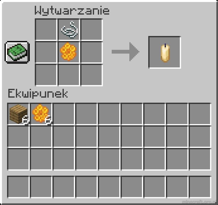 crafting swieczka