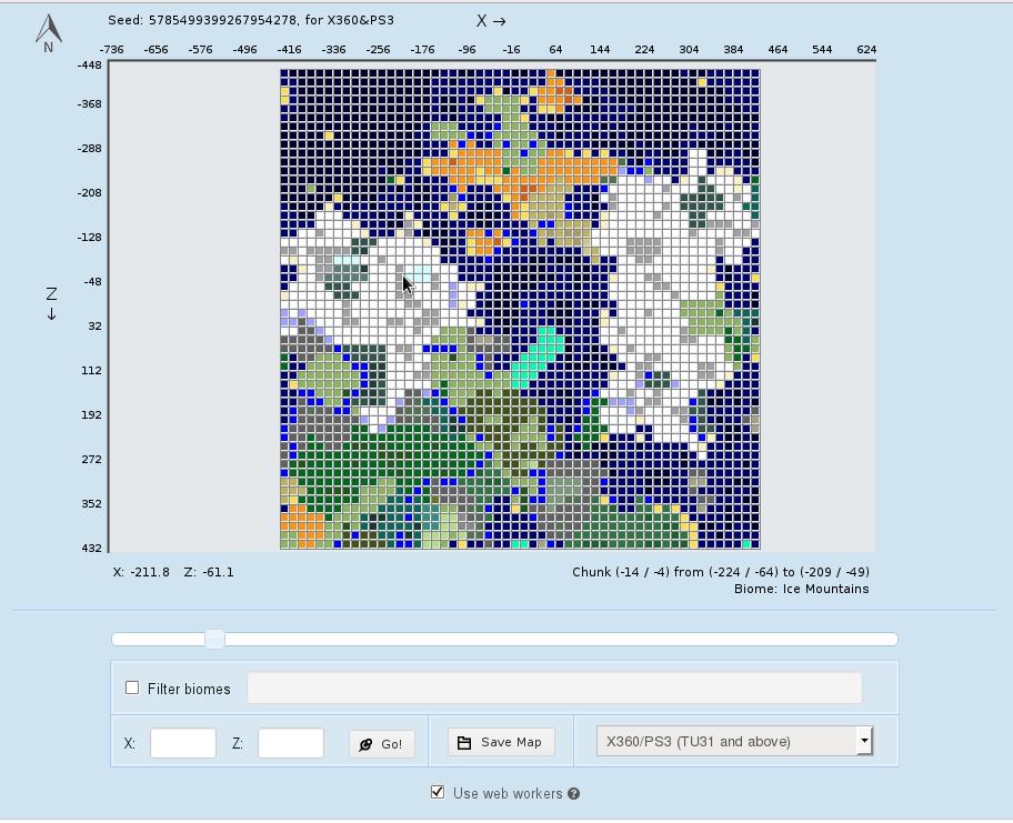 chunkbase narzedzie pokazujace biomy na mapie minecraft