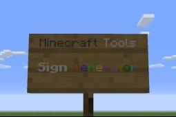 sign generator minecraft